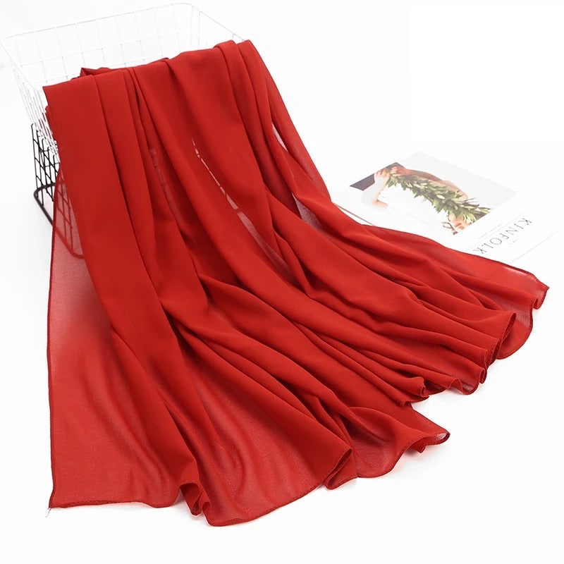 Red Chiffon- New Arrivals