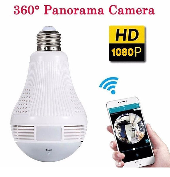 Panoramic Light Bulb Camera - Futurehomegroup