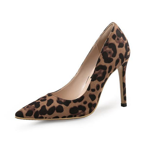 99fef797223b5 ... Sexy Women Pumps High Heels Shoes Spring Leopard Thin Heels Woman Party  Shoes Brand Plus Size