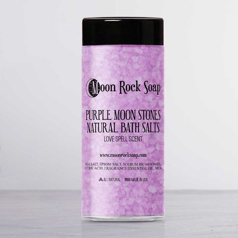 Purple Moon Stones Natural Bath Salts