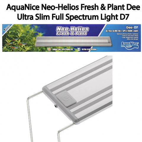 AquaNice Neo-Helios Ultra Slim Full-Spectrum Planted Aquarium Led Light (Dee-D7) - nepalaquastudio