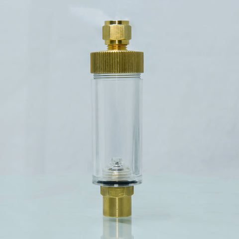 UP CO2 Brass Bubble Counter With Check Valve For Regulator - nepalaquastudio