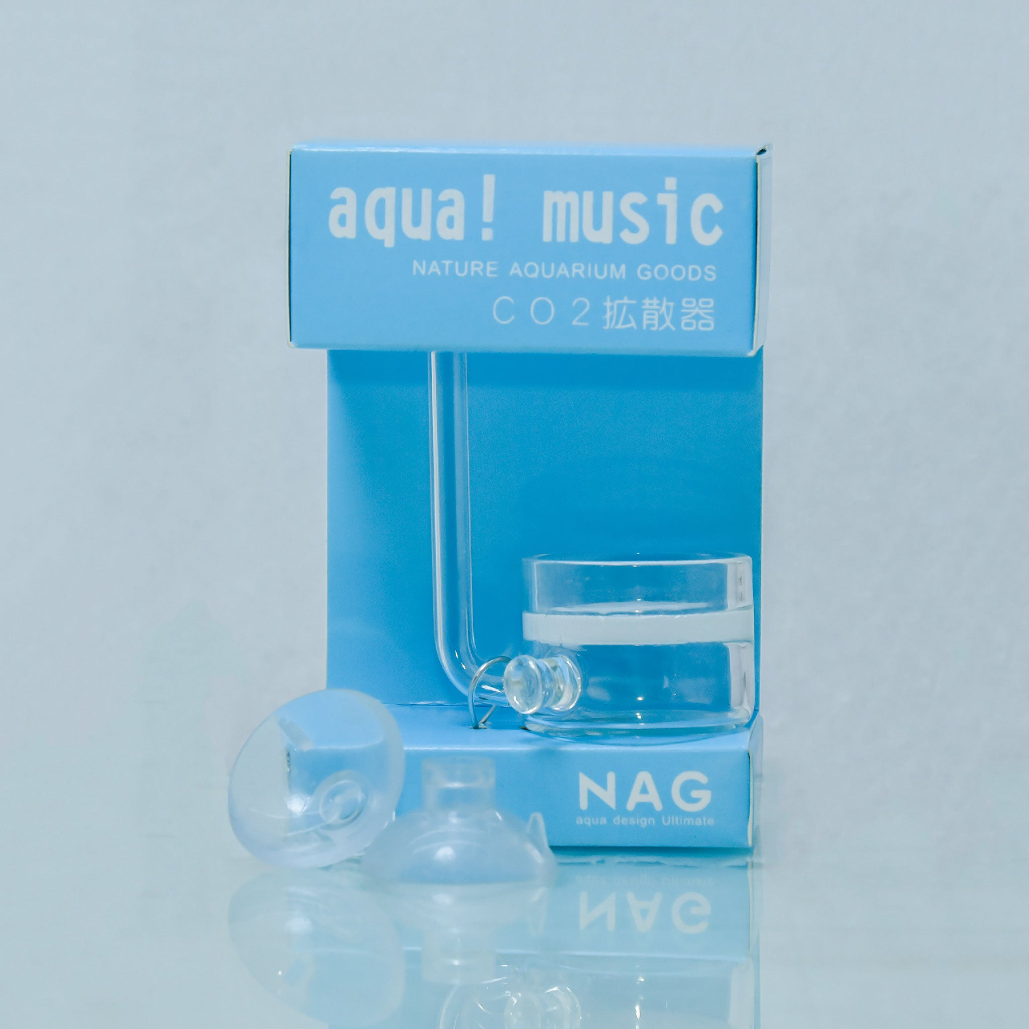 NAG-aqua Music Glass CO2 Flat-Bottomed Diffuser - nepalaquastudio