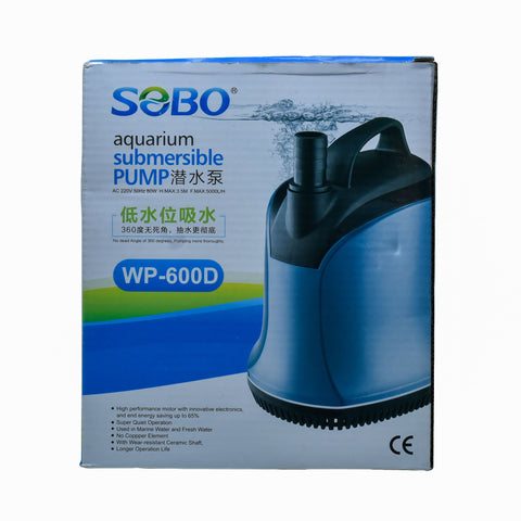 SOBO Aquarium Submersible 80W Water Pump WP-600D  - nepalaquastudio