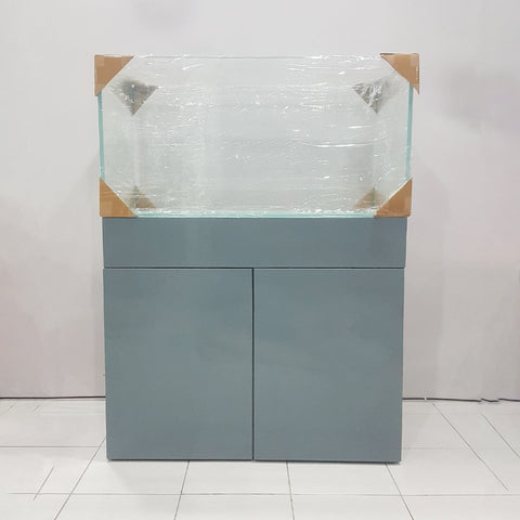 Wooden Cabinet with Rimless Glass Aquarium - nepalaquastudio