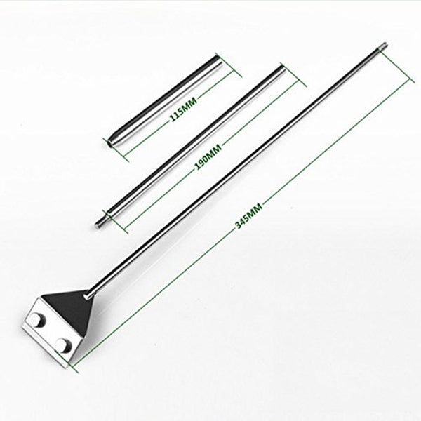 Stainless Steel Algae Scraper Cleaner with 5 Blades for Aquarium
