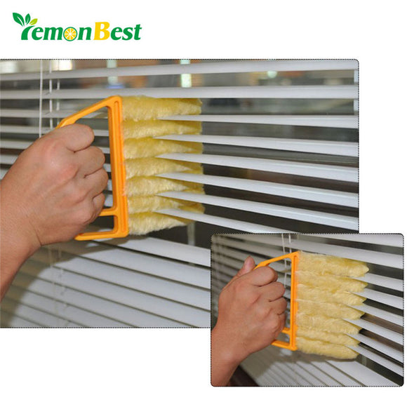 LemonBest Microfiber Venetian Blinds Cleaning Brush Slat Dust Cleaner Cleaning Clip Duster Window Air Conditioner Duster Clean