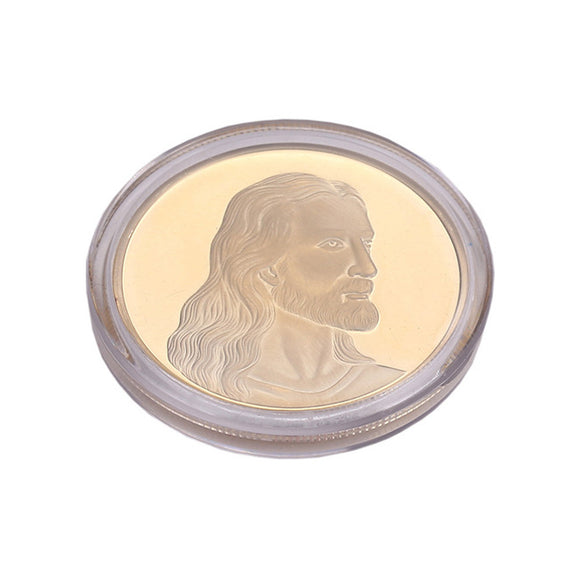 1 x Jesus Coin Collectible Gift Coin Art Collection Commemorative Coins