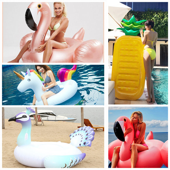 Flamingo & Unicorns inflatable swimming rings giant swimming pool Party float unicorn boat funny swimming laps