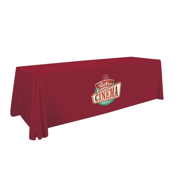 8ft Table Cover 3 sided (open back)