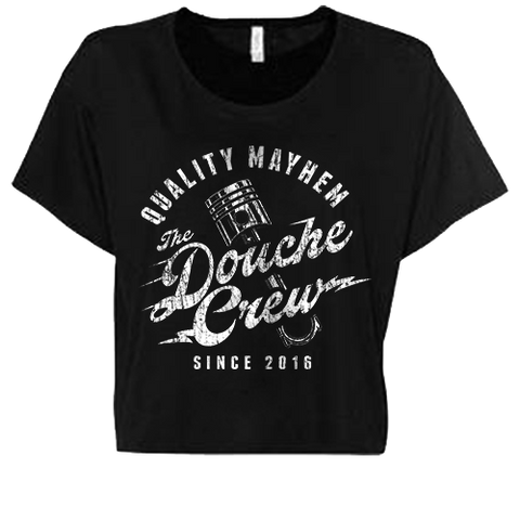 The Douche Crew Ladies Flowy Cropped Tee