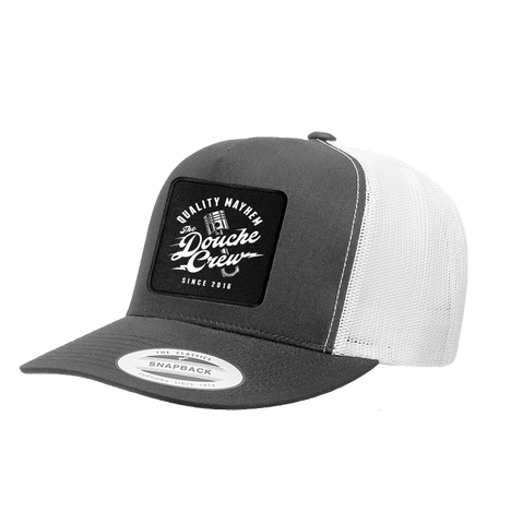The Douche Crew Logo Patch Trucker Hat - Charcoal