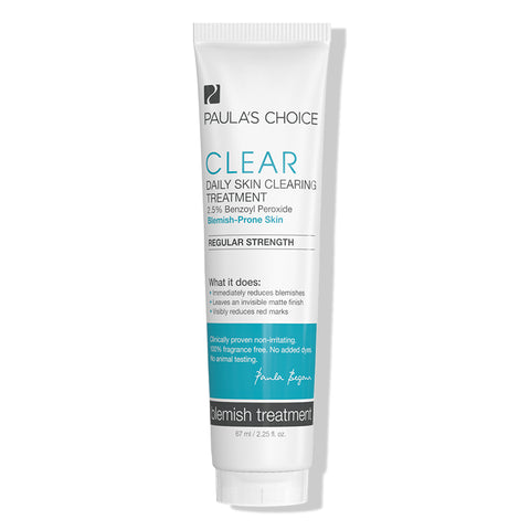 Kem trị mụn viêm, mụn bọc Paula's Choice Clear Regular Strength Daily Skin Clearing Treatment 2.5% Benzoyl Peroxide