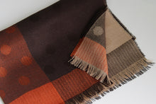 Lima Alpaca & Silk Shawl Brown/Brick Polka Print