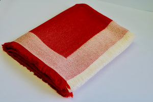 alicia peru classic baby alpaca room throw - brick