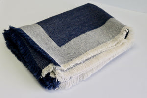 alicia peru classic baby alpaca room throw - denim blue