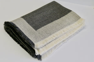 alicia peru classic baby alpaca room throw - seattle gray