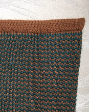 London Cape-Alicia Peru Sustainable Alpaca - color swatch forest green/brown