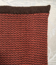 London Cape-Alicia Peru Sustainable Alpaca color swatch - cinnamon/dark brown