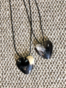 Heart Horn Long Pendant