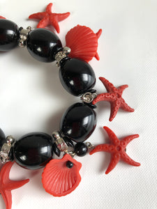 Angela Caputi Black Starfish Bracelet