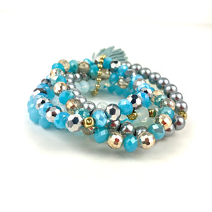 Julie Bracelet Stack Acqua