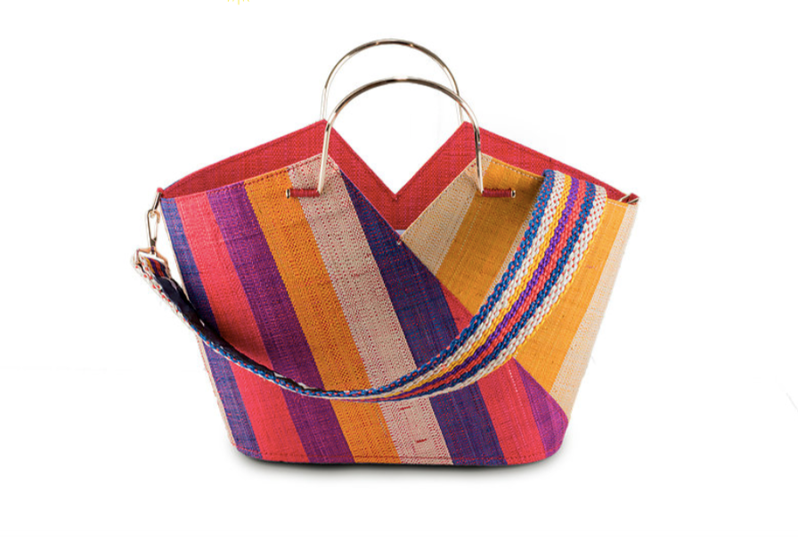 Good People Raffia Shopper Bag with Shoulder Strap