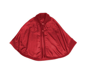 Brooklyn Cape-Alicia Peru Sustainable Alpaca - red color