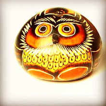Small Carved Owl Gourd-Alicia Peru Artisanal Fair Trade