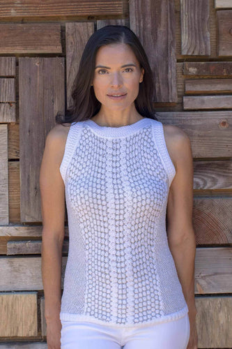 Crochet Cotton Knit Sleeveless Top
