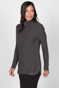 Pima Cotton Funnel Neck Sweater