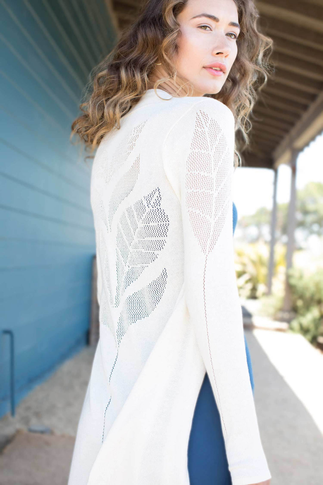 Leaf Cotton Cardigan