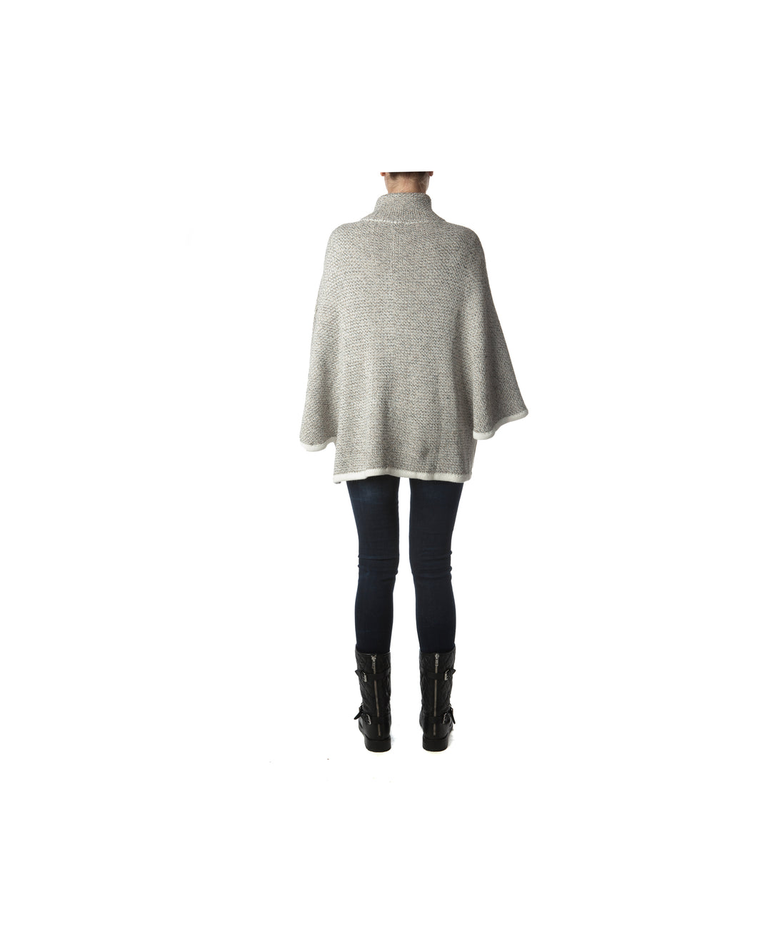 London Cape-Alicia Peru Sustainable Alpaca - back view