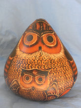 Medium Carved Owl Gourd-Alicia Peru Artisanal Fair Trade