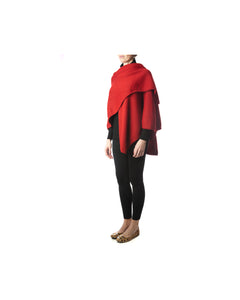 Sylvia Cape-Alicia Peru Sustainable Alpaca - front view folded over shoulder