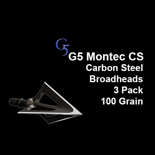 Montec G5 Carbon Steel Broadheads - 100gr 3 pack