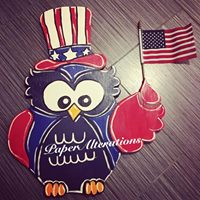 Painted - 4th of July Owl with Flag