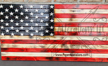 Load image into Gallery viewer, Rustic American Flag