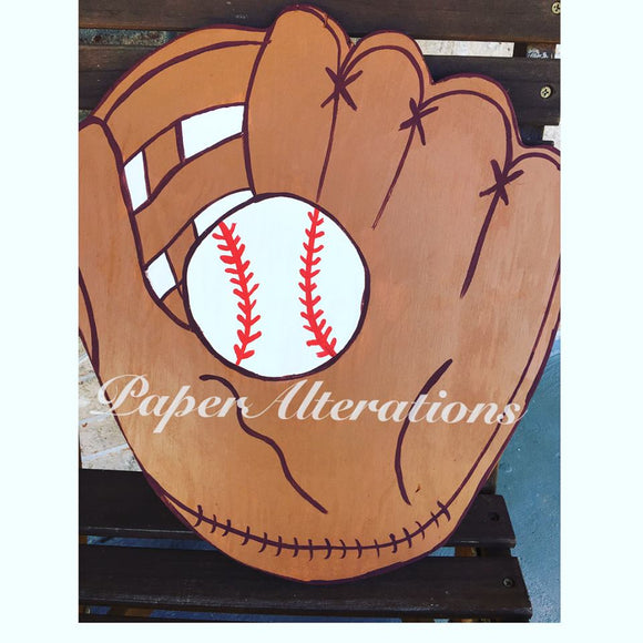 Painted - Baseball Glove & Ball