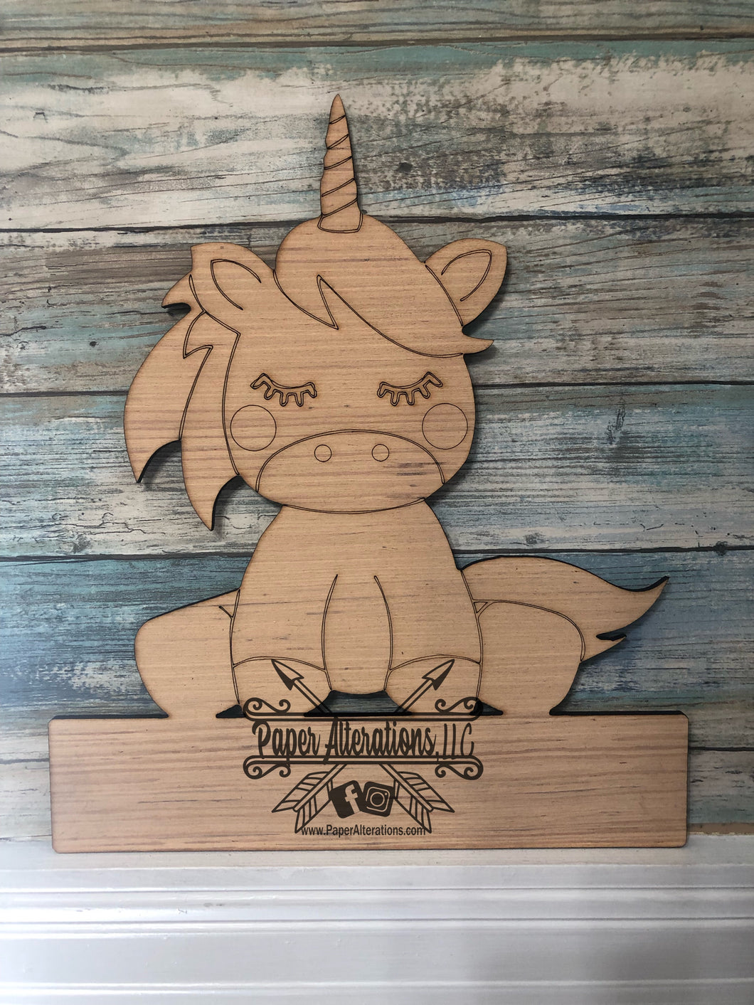 Blank - Unicorn with nameplate