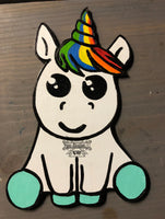 Painted - Sitting Unicorn