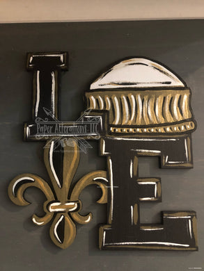 Painted - Love Fleur De Lis with Dome