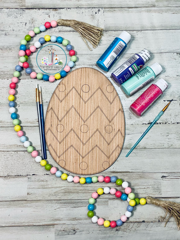 Blank - Easter Egg with Chevron design