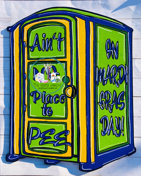 Painted - Mardi Gras Port-a-potty