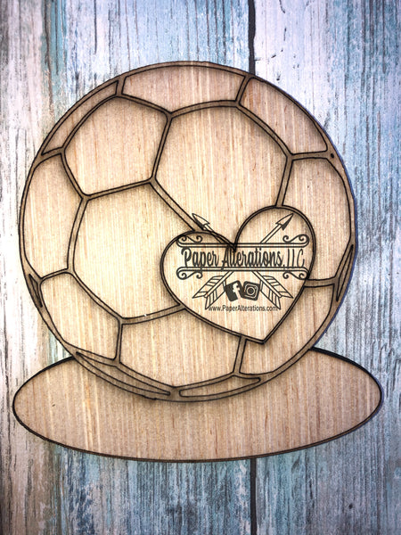 Blank - Soccer Ball with Heart