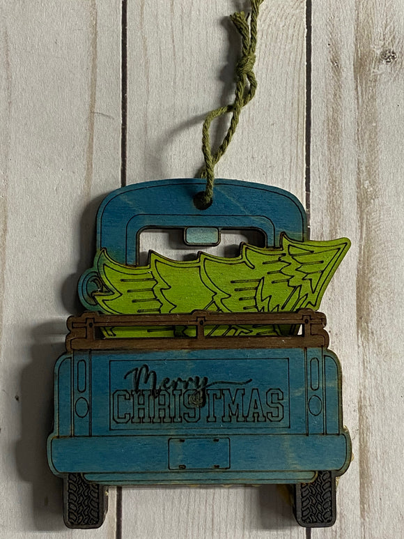Painted - Back of Truck Gift Card Holder