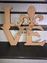 Load image into Gallery viewer, Painted - LOVE Fleur de Lis
