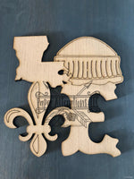 Blank - Love Fleur De Lis with Dome