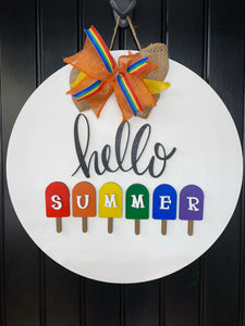 Painted - Hello Summer Popsicle