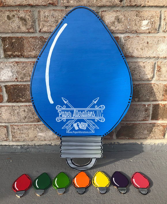 Painted - Christmas Light Bulb